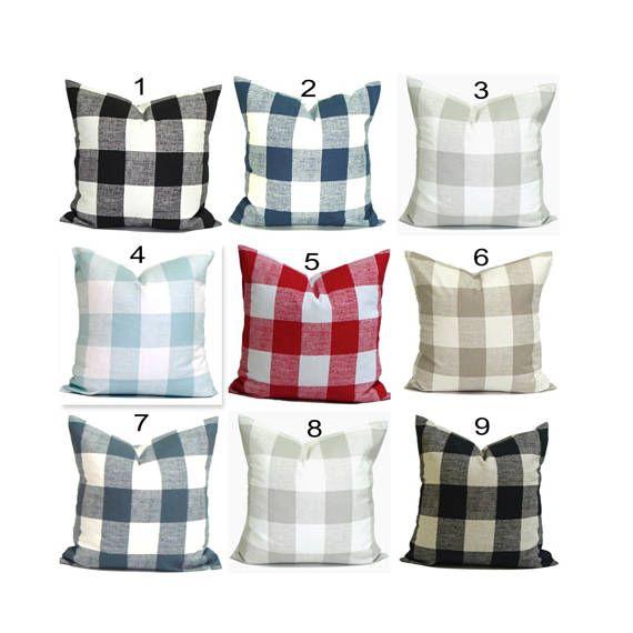 Farmhouse Pillow Farmhouse Decor Buffalo Plaid Pillow Covers Plaid Throw Pillow Buffalo Check Pillows Buffalo Plaid Pillows Plaid Pillow Covers