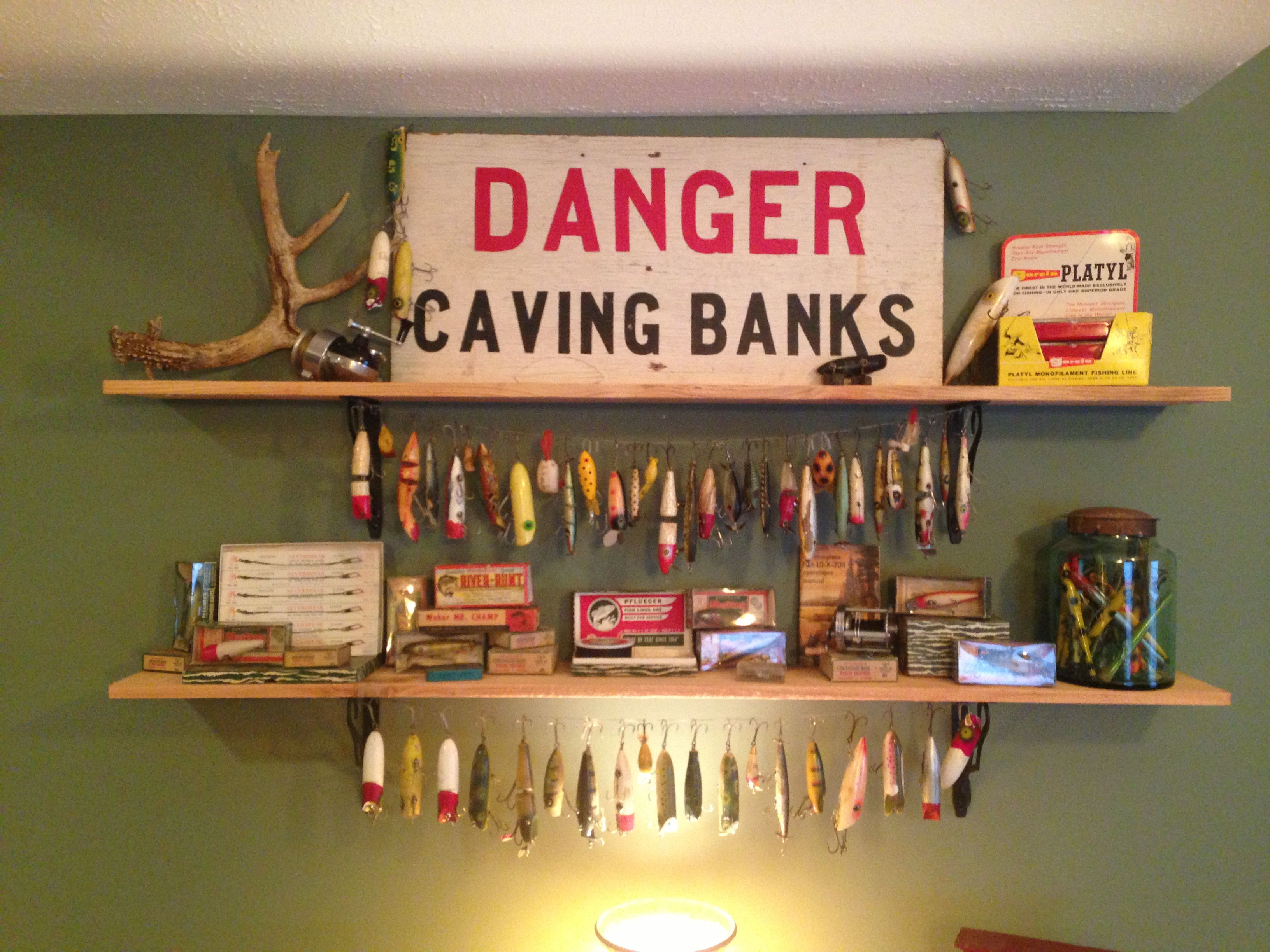 Vintage fishing lure display | For the Home | Pinterest