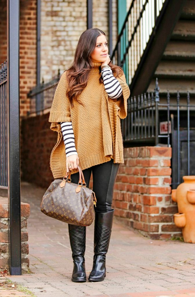 The Poncho Sweater #ponchosweater