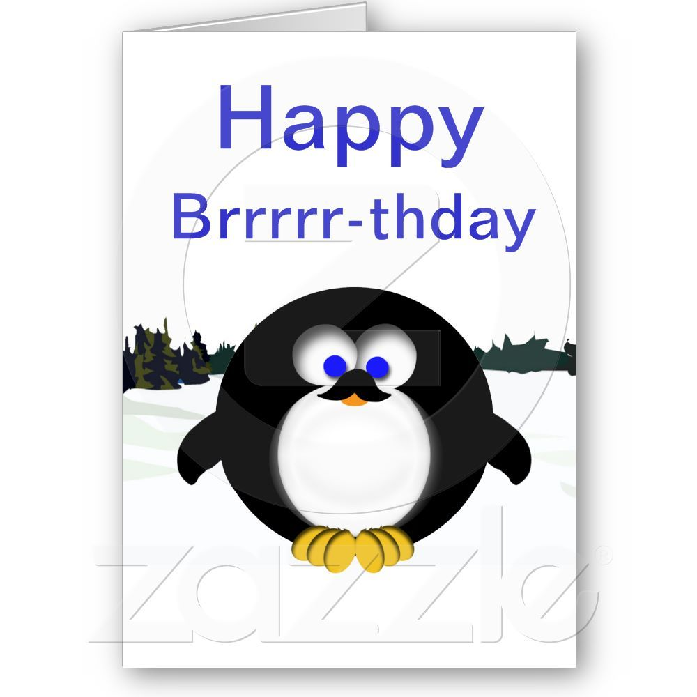 Birthday Card Penguins With Balloons And Present Funny Penguin Card Blank A6 Funny Birthday Cards Happy Birthday Cards Penguin Birthday