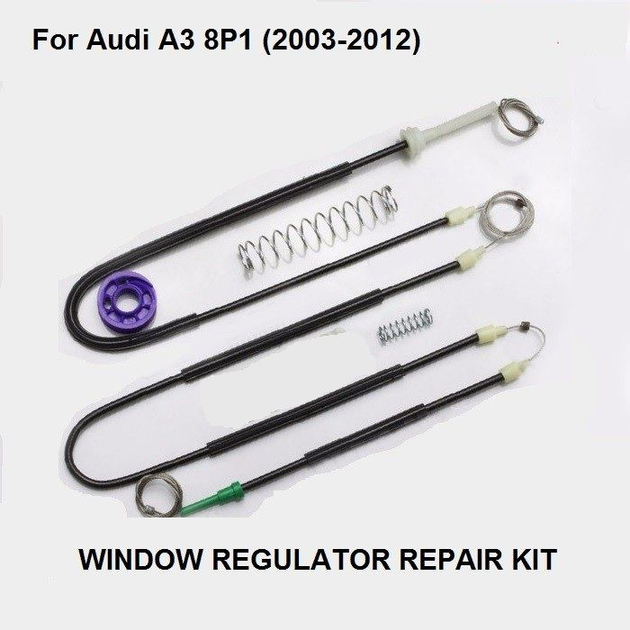 Free Shipping Car Window Parts For Audi A3 8p Window Regulator Repair Kit Front Right 2 3 Doors 2003 2012 New Window Parts Repair Replacement Parts