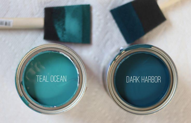 Teal Ocean And Dark Harbour By Benjamin Moore