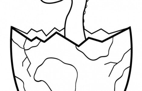 Baby Dinosaur Hatching From An Egg Dinosaur Coloring Pages
