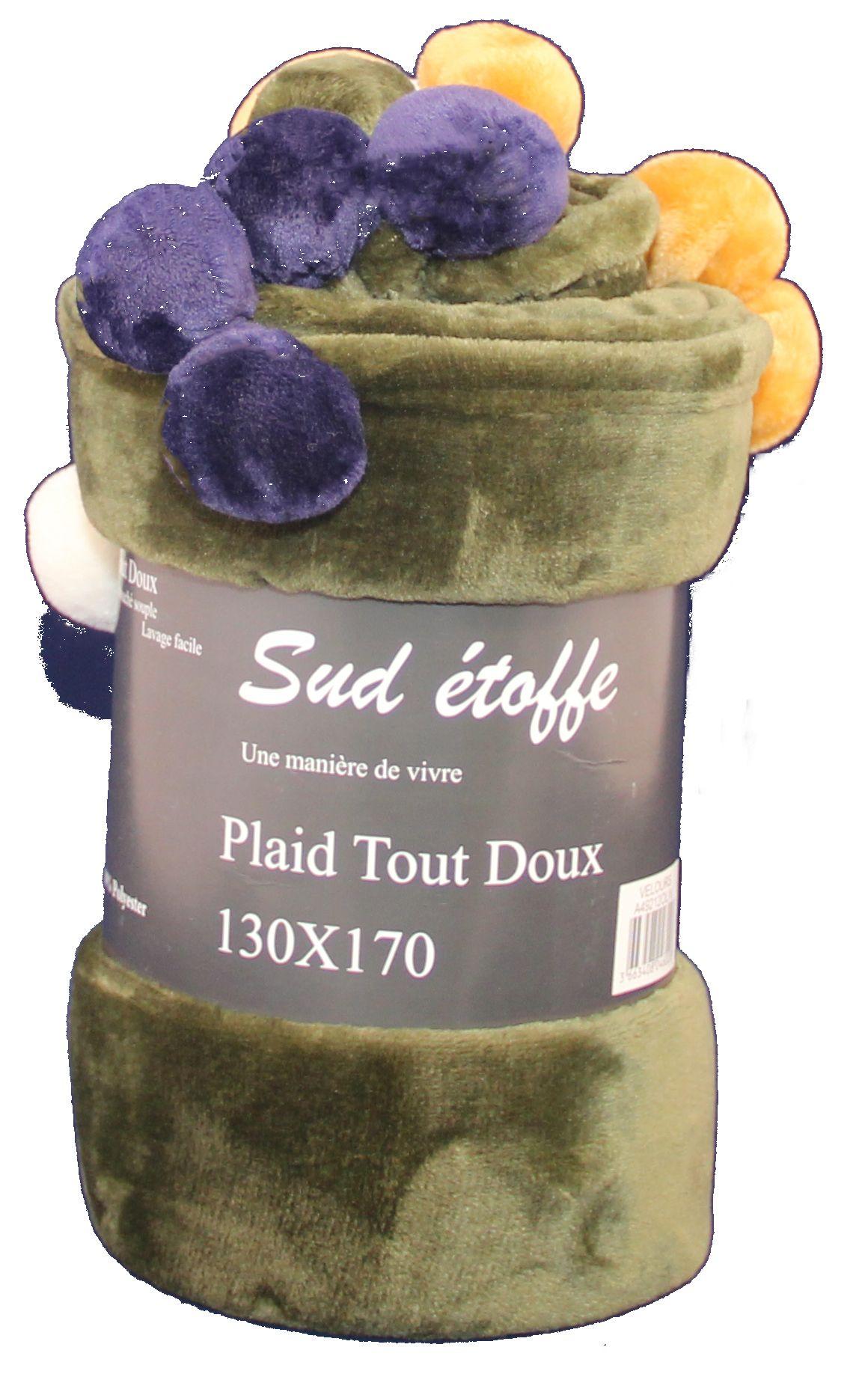 Plaid Sud Etoffe Collection Velours Tout Doux 130x170 Linge De Maison Fabricant Et Grossiste Linge De Maison Linge Et Plaid Tout Doux