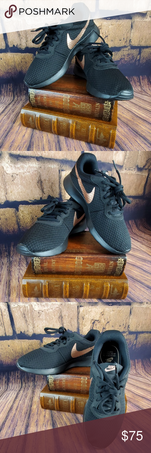 Nike Tanjun Black Metallic Red Bronze
