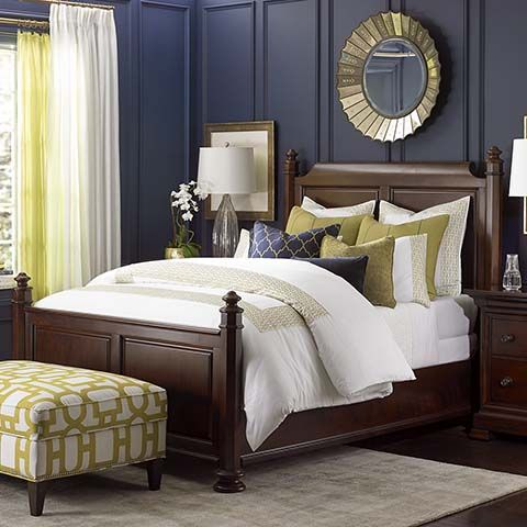 Best Louis Philippe Panel Bed By Bassett Furniture 640 x 480