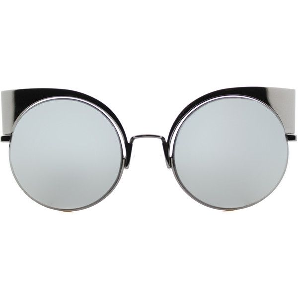 Fendi Eyeshine FF 0177 KJ1 Dark Ruthenium Cat-Eye Metal Sunglasses (1.260  BRL). Óculos De SolÓculos ... eae9ff011d