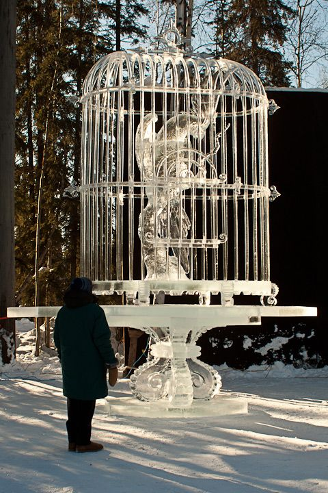 2011 BP World Ice Art Championships,  Multi-Block Classic, 1st  Place, Realistic, Junichi Nakamura, Shinichi Sawamura, Koji Murakami, Yoshimori Mabuchi all from JAPAN.  Photo by Karen Clautice. The competition took place in Fairbanks, Alaska, USA Feb-March 2011.