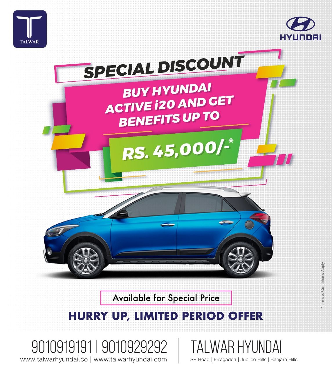 Activei20 Now Available For Specialprice Talwarhyundai This Festiveseason Benefits Upto 1lakh On Selected Model Festival Season Special Price Festival
