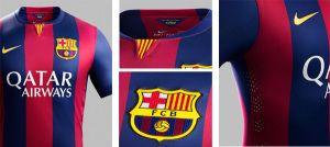 Nueva camiseta Nike del barcelona para la temporada 2014 2015 7d3a7bf369d7e