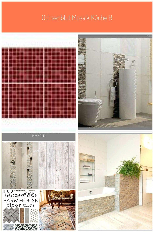 Ochsenblut Mosaik Kuche Badezimmer Fliesen Wand Vinyl Aufkleber Abnehmbare Diy Home Decor Diy Home D Farmhouse Flooring Lighted Bathroom Mirror Tile Floor