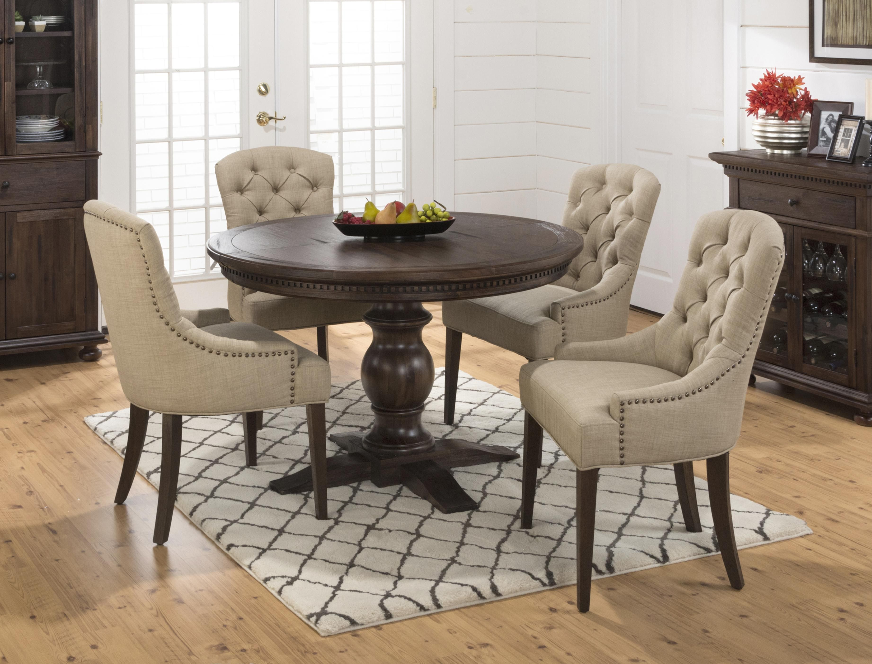 Jofran Geneva Hills Round To Oval Table With Pedestal Base