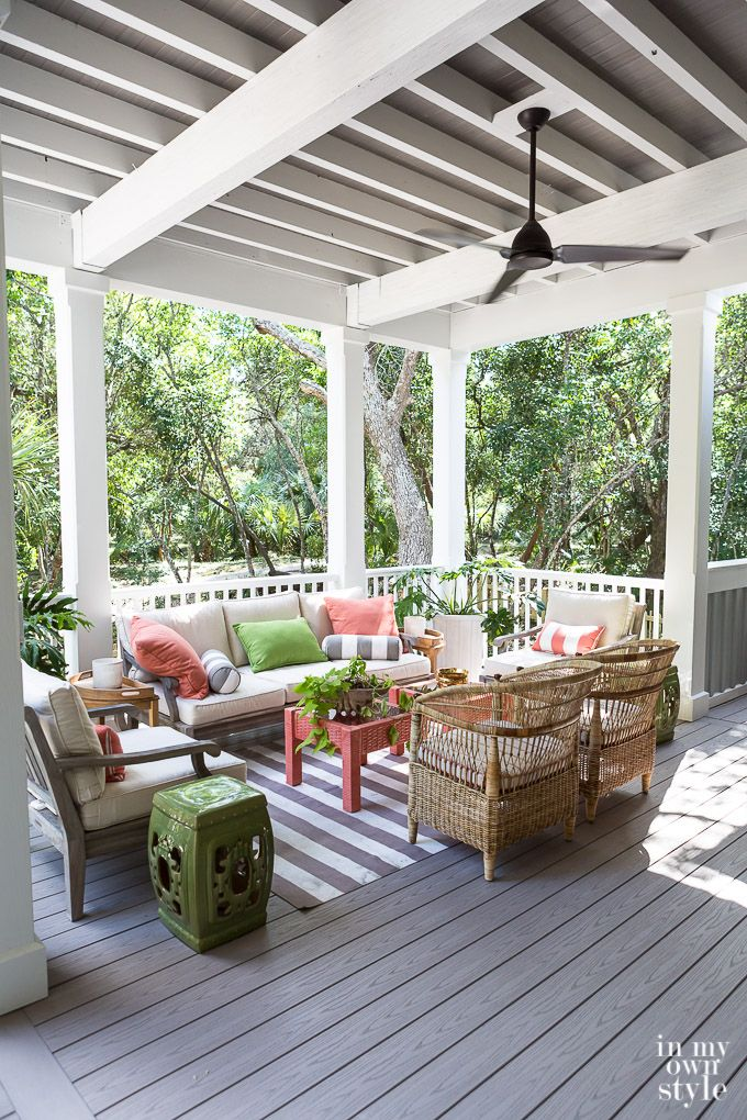 My Trip To The Southern Living Idea House Patio Color Schemes Southern Living Homes Colorful Patio