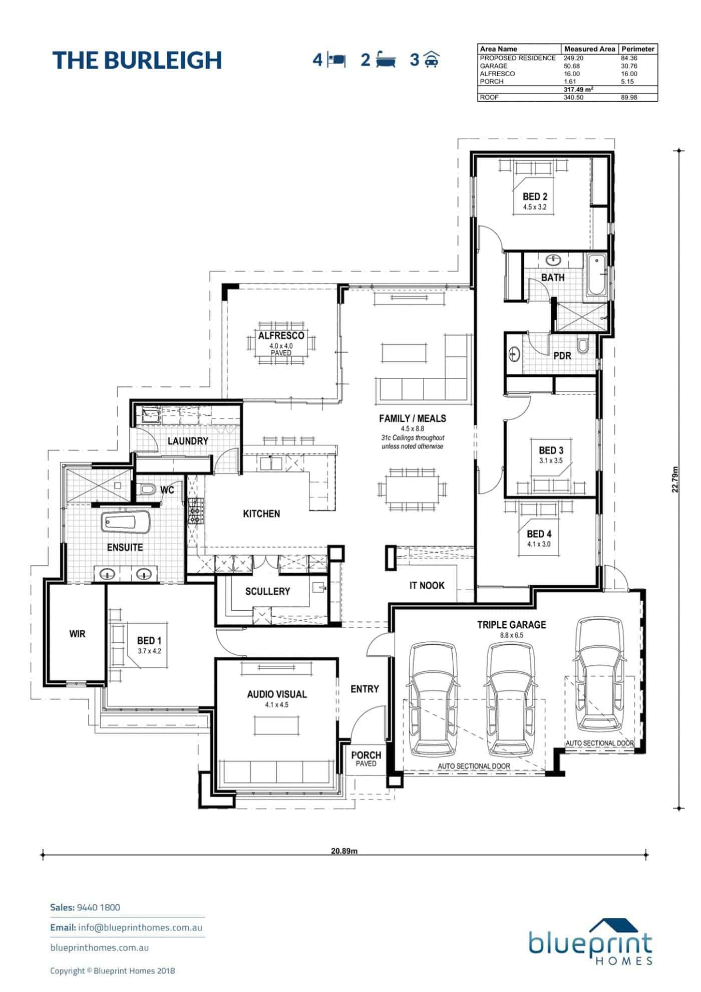 Burns Beach Display Home Perth The Burleigh In 2020 Floor Plans Dream House Plans Best House Plans