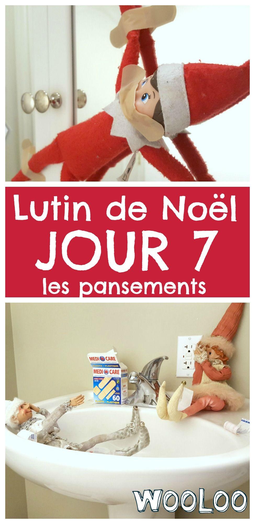 Cette nuit, mes lutins ont pris Pancarte en otage! Voici le tour des pansements. #lutin #elfontheshelf #noel #christmas