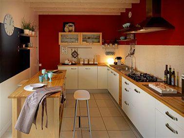 couleurs de peinture tendance pour la cuisine cuisine. Black Bedroom Furniture Sets. Home Design Ideas