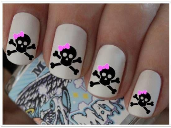 21 killer skull nail art design tutorials nail design ideaz 21 killer skull nail art design tutorials nail design ideaz prinsesfo Images