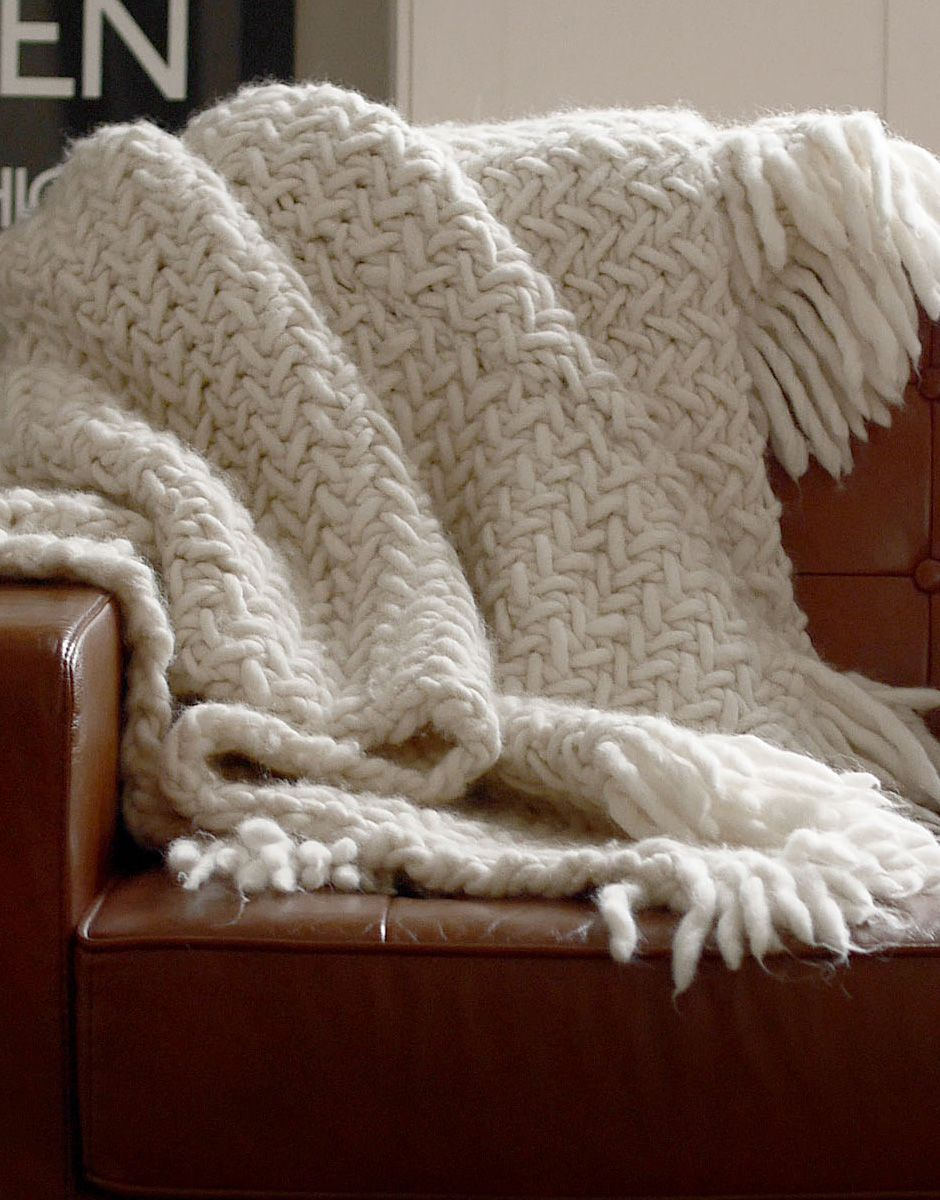Knitting Wool Blanket : Project for the future big chill is finally here at