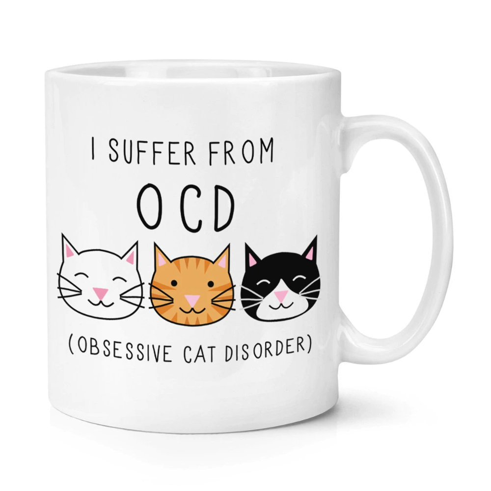 Crazy Funny OCD Cat Mug | Thekittenpark