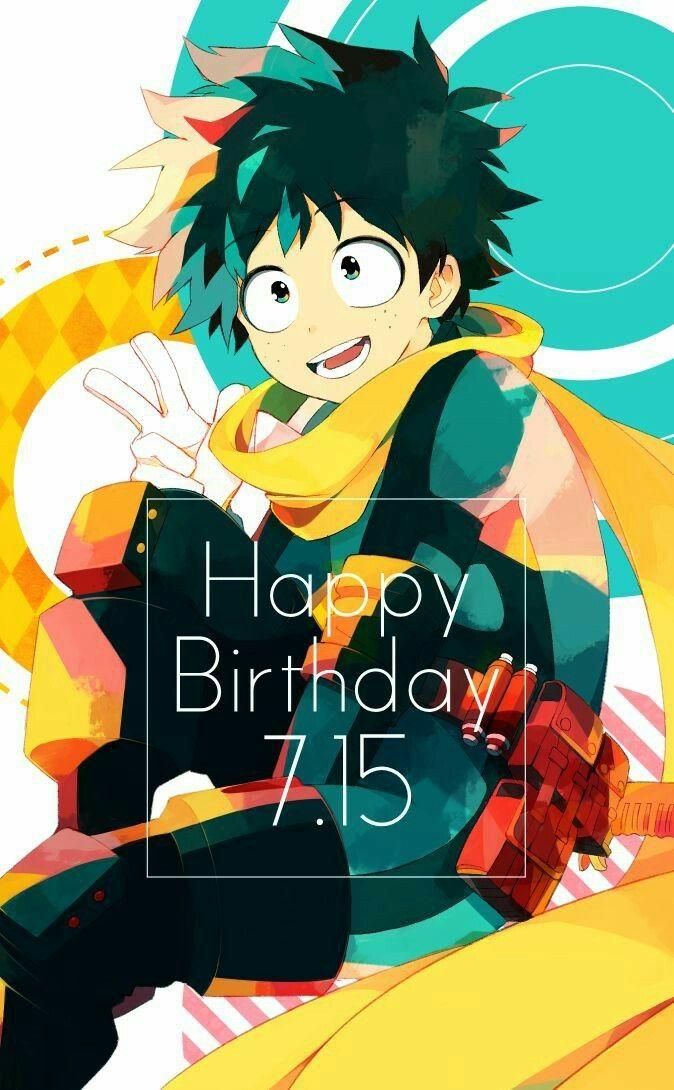 Happy Birthday Izuku Midoriya Deku Izuku Text Peace Sign My