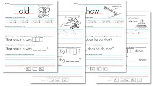 Printables Homeschooling Worksheets sight word worksheets site words and fry on pinterest