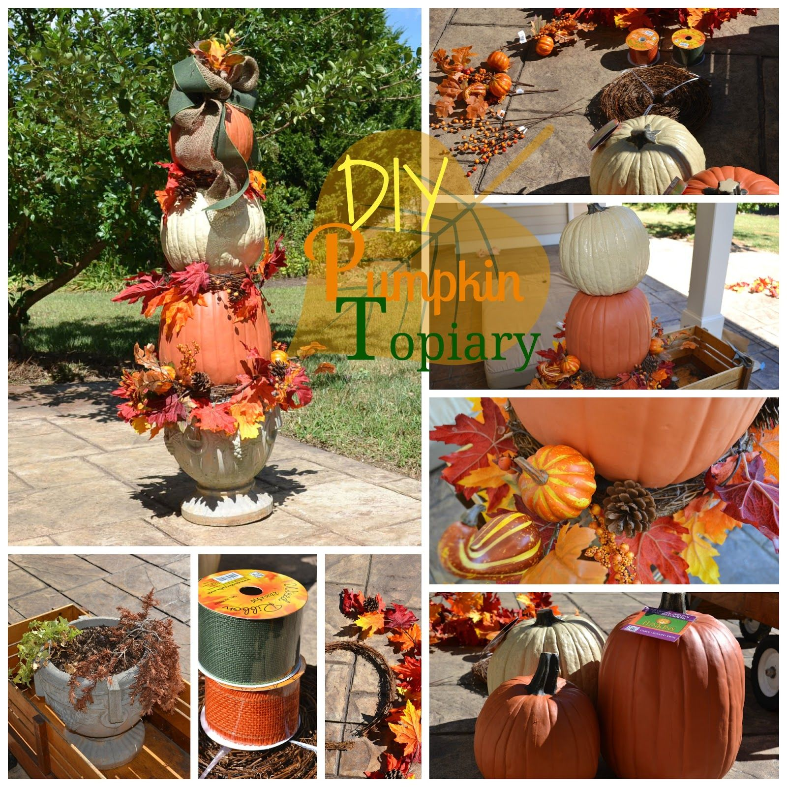 Lovely Pumpkin Topiary Ideas Part - 5: Decor You Adore: Pumpkin Topiary Tutorial: Donu0027t Worry, ...