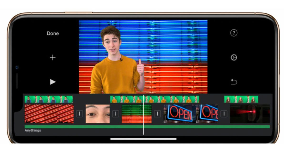 Apple's big iMovie iOS update includes green screen and