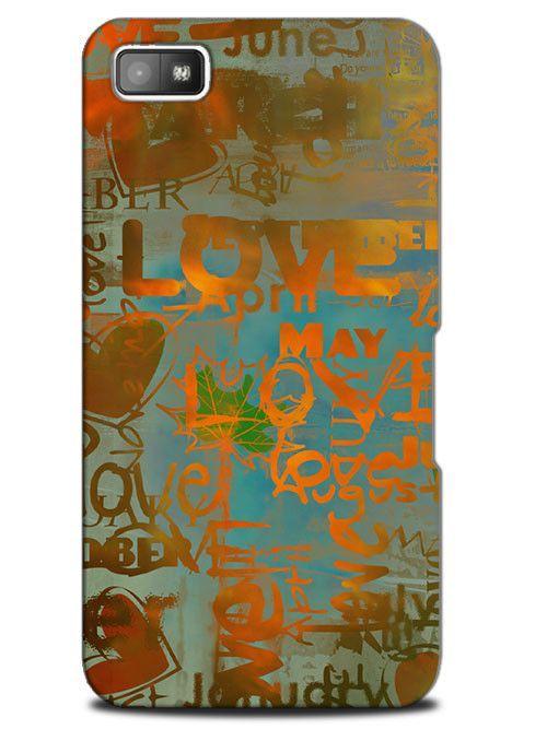 Vintage Retro Style Theme Love Heart Case Cover Design for Blackberry