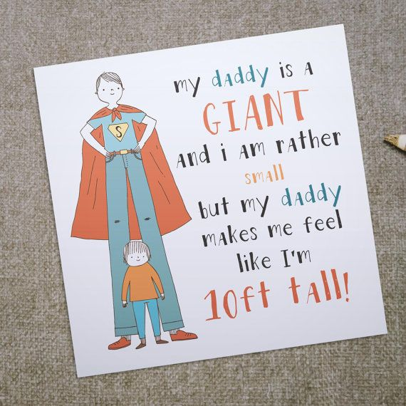 Father S Day Card My Daddy Is A Giant Greeting Card For Etsy Giant Greeting Cards Birthday Cards For Him Diy Father S Day Gifts From Baby