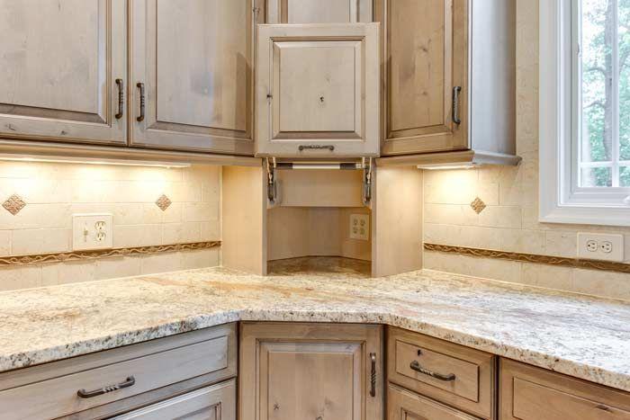 Corner Appliance Garage From Ultracraft Corner Kitchen Cabinet