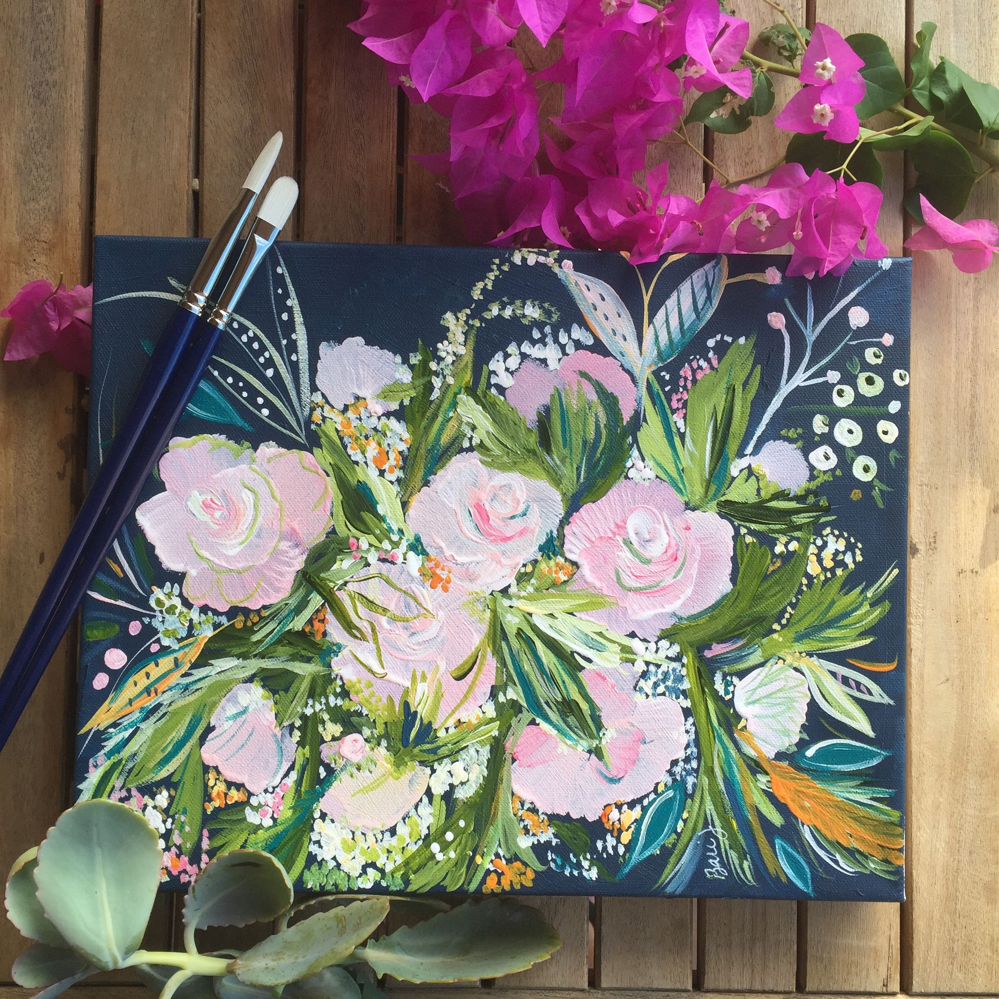 Custom Bouquet Painting | Bari, Paintings and Fantasy paintings