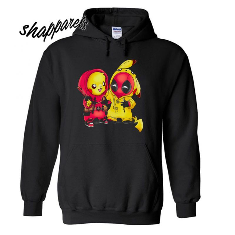 Pikapool Pokemon and Deadpool Hoodie in 2019  20abb32202d