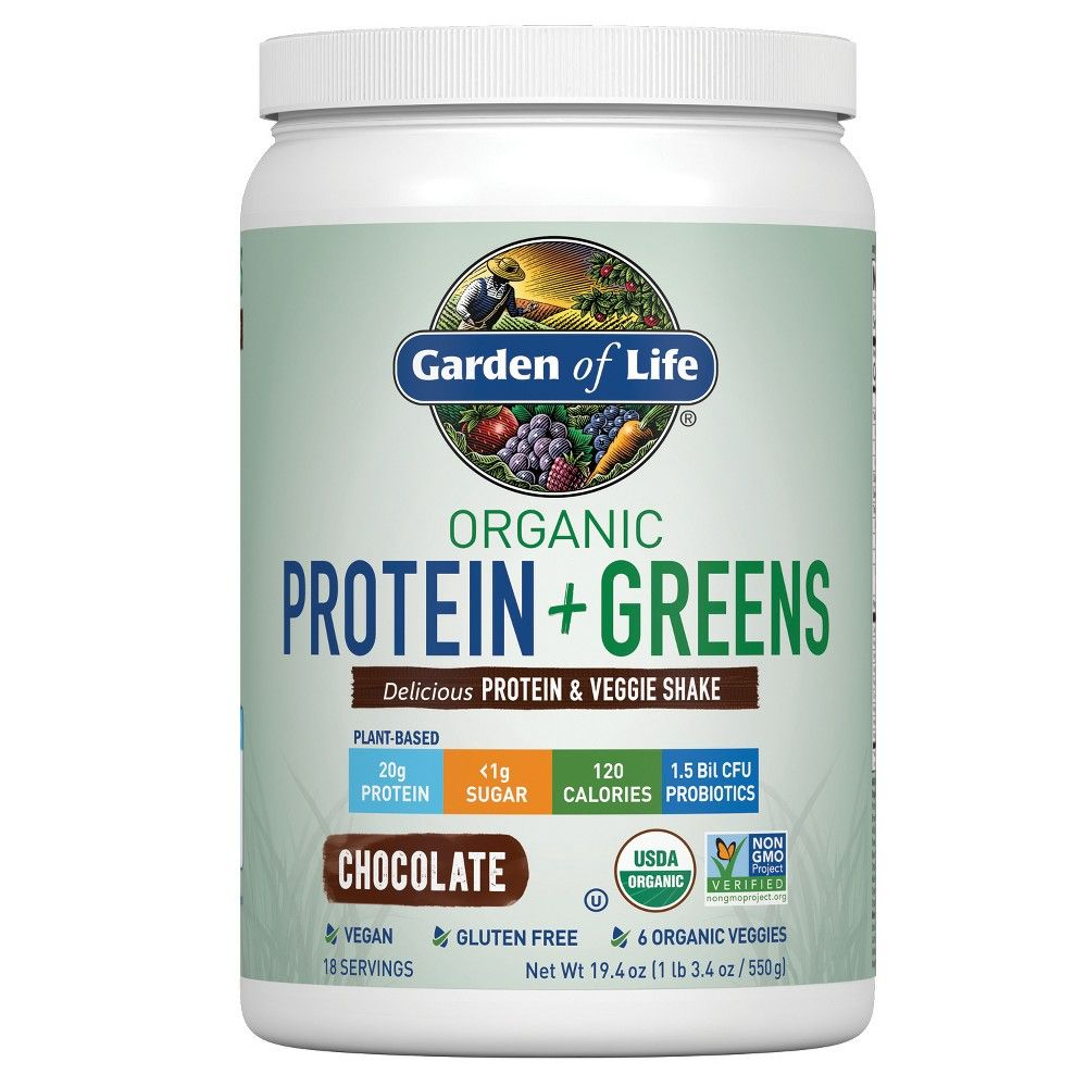 Garden Of Life Organic Vegan Protein Greens Shake Mix