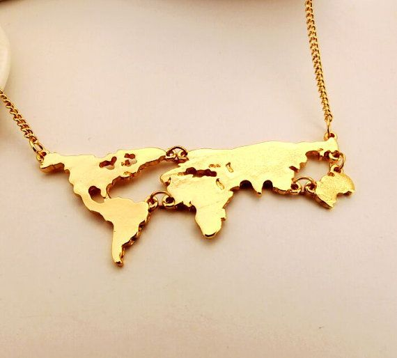Gold world map necklace country necklace travel by aeenher on etsy gold world map necklace country necklace travel by aeenher on etsy gumiabroncs Choice Image