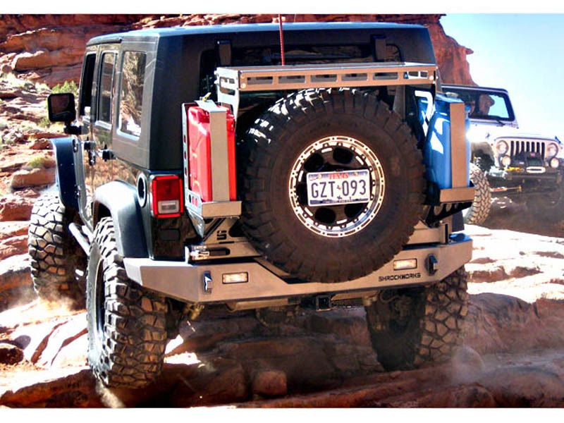 Shrockworks Jeep Jk Swing Away Tire Carrier W Cargo Rack 2 000