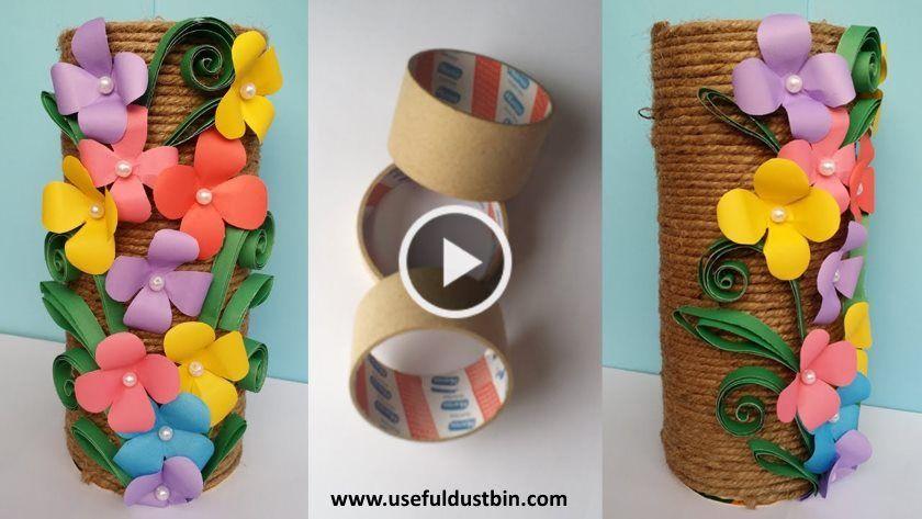 How To Make Best Out Of Waste Flower Vase Artsycraftsydad