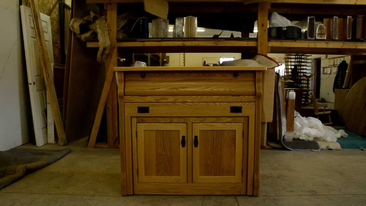 Frontier Island Buffet With Pull Out Table Flat Decor Wood