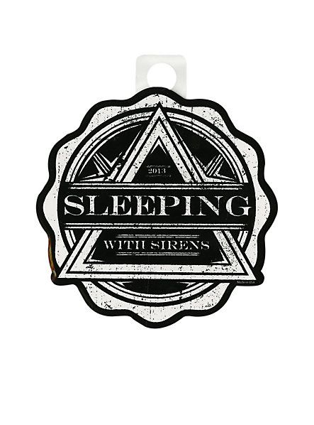 Sleeping with sirens triangle sticker hot topic