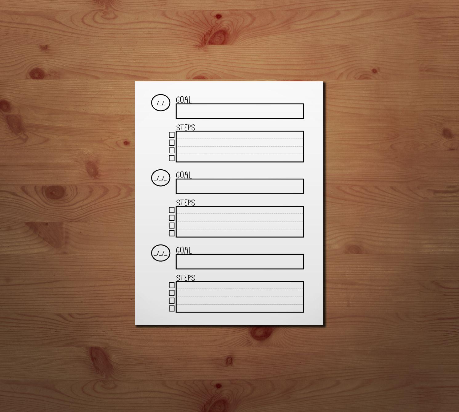 Free Printable Goal Setting Worksheet
