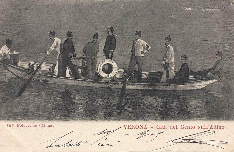 Verona - Gita del Genio Militare - 1905