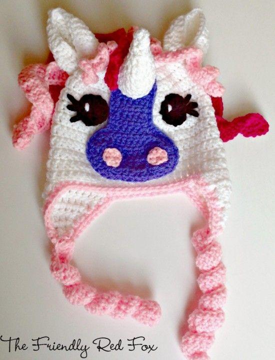 My Little Pony Hat Crochet Pattern Lots Of Cute Ideas | Pinterest