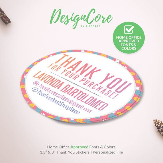 Thank You Stickers Personalized Label Home Office Approved
