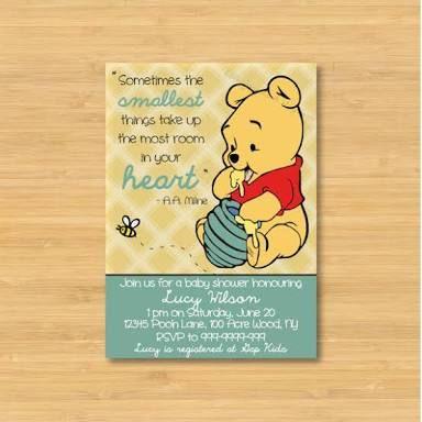 Image Result For Invitaciones Pooh Bebe Baby Shower Pinterest