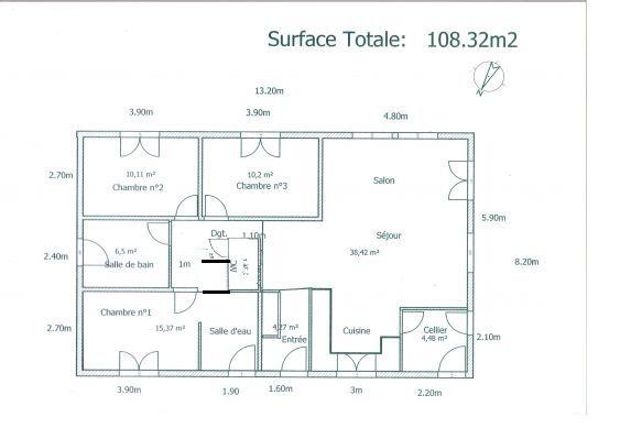 Plan du0027une maison 100m2 Plans de maison Pinterest