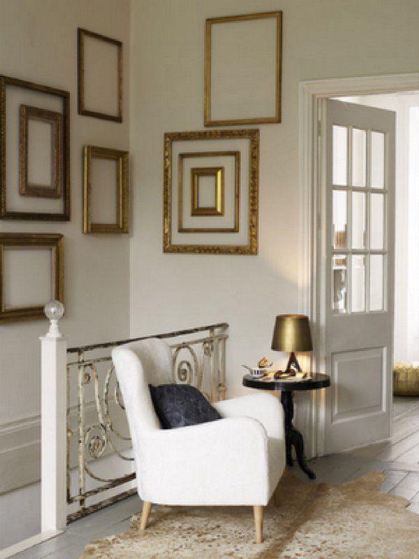 Decoración de paredes con marcos de fotos