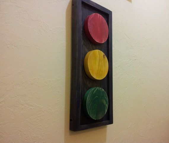 Wooden Traffic Light By Woodenlane On Etsy 30 00 Light Diy Home Decor Projects Wooden Projects