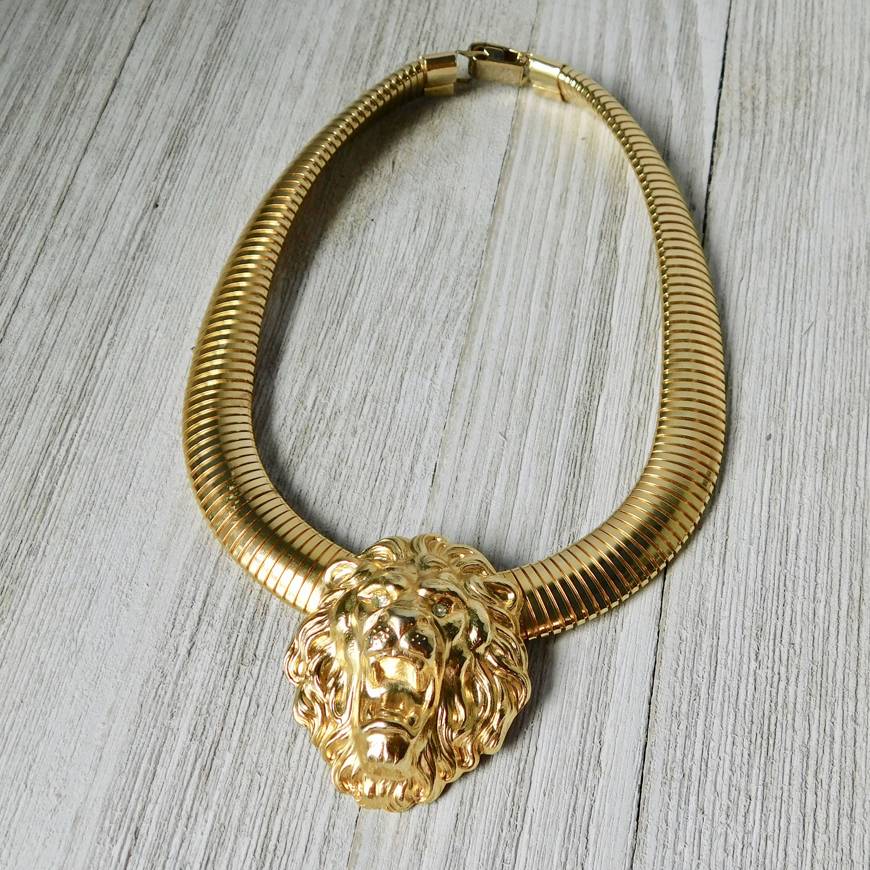 Early Eighties Gold Tone with what looks like Tortoise Choker