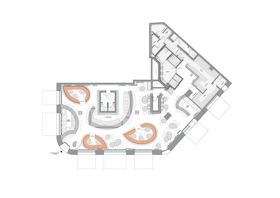 The Concept The Ikibana Restaurant Offers A Fusion Of Japanese And Brazilian Gastronomies Two Cultures Restaurant Layout Restaurant Floor Plan Restaurant Plan
