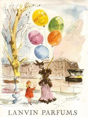 Publicité parfums Lanvin 1949 Guillaume Gillet (1912-1987)