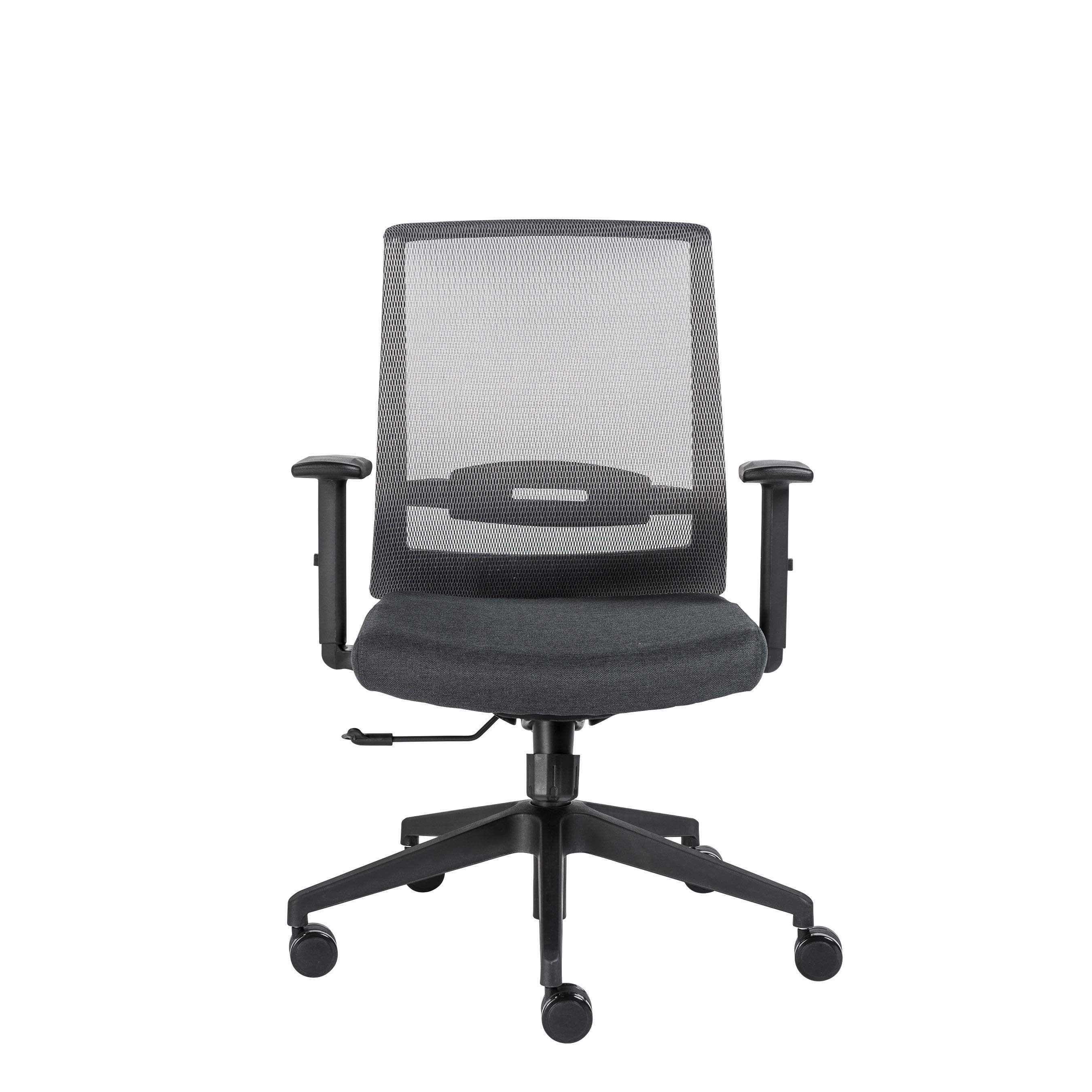 Fiona office chair with adjustable arms mesh office